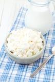 Τυρί και γάλα εξοχικών σπιτιών Στοκ φωτογραφία με δικαίωμα ελεύθερης χρήσης
