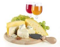 Τυρί και κρασί Στοκ εικόνα με δικαίωμα ελεύθερης χρήσης