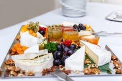 Τυρί και σταφύλια κατατάξεων Στοκ φωτογραφία με δικαίωμα ελεύθερης χρήσης