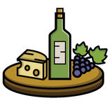 Τυρί και σταφύλια κρασιού Στοκ φωτογραφία με δικαίωμα ελεύθερης χρήσης