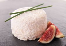 Τυρί και σύκο Στοκ Εικόνες