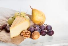 Τυρί και accompaniments Στοκ Εικόνα