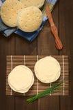 Τυρί κρέμας στο κουλούρι Στοκ εικόνα με δικαίωμα ελεύθερης χρήσης