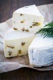 Τυρί κρέμας της Brie Στοκ εικόνες με δικαίωμα ελεύθερης χρήσης
