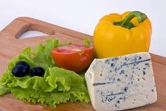 Τυρί με τα λαχανικά Στοκ Φωτογραφία