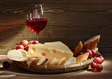 Τυρί με το ψωμί Στοκ Φωτογραφία