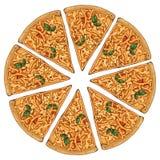 Τυρί πιτσών Απεικόνιση αποθεμάτων
