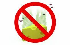Τυρί που απαγορεύονται, τρισδιάστατη απεικόνιση Στοκ φωτογραφίες με δικαίωμα ελεύθερης χρήσης