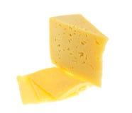 τυρί που απομονώνεται Στοκ Φωτογραφία