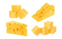 τυρί που απομονώνεται στοκ εικόνες