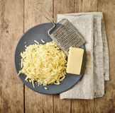 τυρί που ξύνεται Στοκ φωτογραφία με δικαίωμα ελεύθερης χρήσης