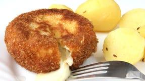 τυρί που τηγανίζεται στοκ φωτογραφία