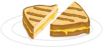 τυρί που ψήνεται στη σχάρα Στοκ Εικόνες