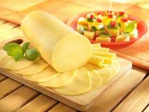 Τυρί σαλαμιού Στοκ Εικόνες