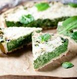 Τυρί σπανακιού και γραβιέρας ξινό Στοκ φωτογραφίες με δικαίωμα ελεύθερης χρήσης