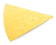 Τυρί στο λευκό Στοκ Φωτογραφίες
