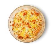 τυρί τέσσερα πίτσα Στοκ Εικόνες