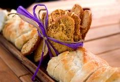 τυρί ψωμιού που ψήνεται Στοκ εικόνα με δικαίωμα ελεύθερης χρήσης