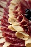 Τυρί, prosciutto και σαλάμι στοκ φωτογραφίες