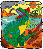 τυραννόσαυροι δεινοσαύ& Στοκ εικόνα με δικαίωμα ελεύθερης χρήσης