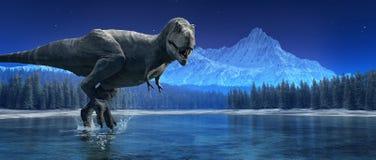 Τυραννόσαυρος Rex Αυτό είναι ένα τρισδιάστατο δίνει διανυσματική απεικόνιση