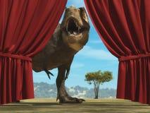 Τυραννόσαυρος Rex στη ζούγκλα απεικόνιση αποθεμάτων