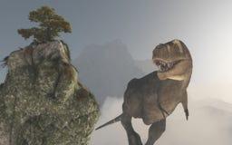 Τυραννόσαυρος Rex στη ζούγκλα διανυσματική απεικόνιση