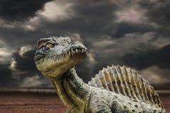 Τυραννόσαυρος rex στη θύελλα Στοκ Φωτογραφίες