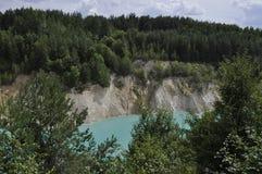 Τυρκουάζ λίμνη Στοκ εικόνες με δικαίωμα ελεύθερης χρήσης
