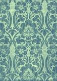 Τυρκουάζ αφηρημένο ριγωτό floral εκλεκτής ποιότητας υπόβαθρο σχεδίων Στοκ Φωτογραφίες