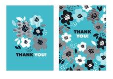 Τυρκουάζ αφηρημένο floral σχέδιο χρώματος Στοκ Φωτογραφίες