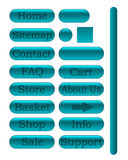 τυρκουάζ Ιστός κουμπιών Απεικόνιση αποθεμάτων