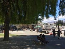 Τυρκουάζ κρύσταλλο προκυμαιών Queenstown - καθαρίστε το νερό την ηλιόλουστη ημέρα Στοκ Φωτογραφίες