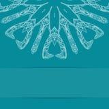 Τυρκουάζ μπλε κάρτα με το περίκομψο σχέδιο Στοκ Φωτογραφίες