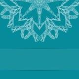 Τυρκουάζ μπλε κάρτα με το περίκομψο σχέδιο Στοκ Εικόνες