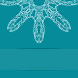 Τυρκουάζ μπλε κάρτα με το περίκομψο σχέδιο Στοκ φωτογραφία με δικαίωμα ελεύθερης χρήσης