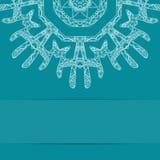 Τυρκουάζ μπλε κάρτα με το περίκομψο σχέδιο Στοκ Φωτογραφία
