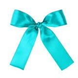Τυρκουάζ μπλε κορδέλλα για να βάλει στο παρόν σας Στοκ Εικόνα
