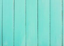 Τυρκουάζ ξύλινες σανίδες Στοκ Εικόνα