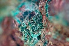 Τυρκουάζ φυσική σύσταση από το φυσικό υλικό κρύσταλλα Μακροεντολή αφηρημένη ανασκόπηση στοκ φωτογραφίες με δικαίωμα ελεύθερης χρήσης