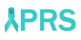 Τυρκουάζ PRS κορδελλών έννοια απεικόνιση αποθεμάτων
