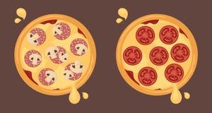 Τυροειδείς πίτσες στοκ φωτογραφία