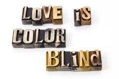 Τυφλές λέξεις χρώματος αγάπης Στοκ εικόνα με δικαίωμα ελεύθερης χρήσης