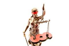 Τυφλές Justitia και παράγραφος ως έννοια νόμου στοκ φωτογραφία με δικαίωμα ελεύθερης χρήσης