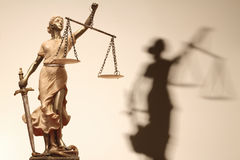 τυφλή δικαιοσύνη ίσως όχι Στοκ Εικόνες