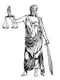 τυφλή δικαιοσύνη διανυσματική απεικόνιση