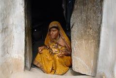 τυφλή φτωχή γυναίκα Στοκ Εικόνες