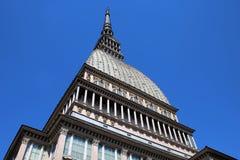 Τυφλοπόντικας Antonelliana, Τορίνο, σύμβολο οικοδόμησης της πόλης, Ιταλία στοκ εικόνες
