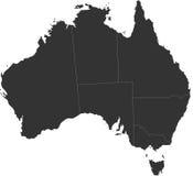 Τυφλός χάρτης της Αυστραλίας Στοκ Φωτογραφίες