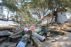 τυφώνας Irene συντριμμιών 2 ζημία&si Στοκ Εικόνες